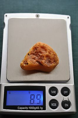 8,8 grams 100 % Genuine Natural Baltic Amber Stone Raw Rough