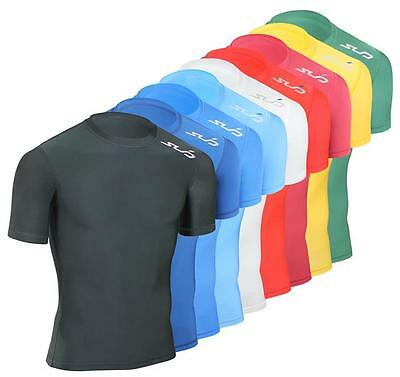 SUB COLD Kids Compression Top, S/S Thermal Baselayer - boys skin sports shirt