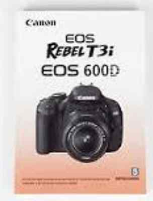 Canon EOS 600D / T3i Genuine Instruction Book / Manual / User Guide In Spanish