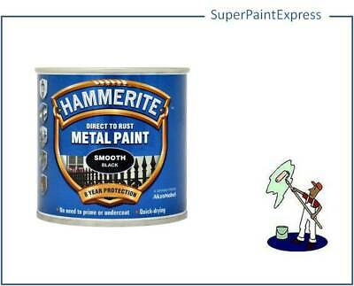 Hammerite Smooth Metal Paint 250ml  All Colours Available COLOUR 250 ML