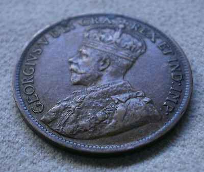 1919 Canada Canadian large cents one cent coin penny
