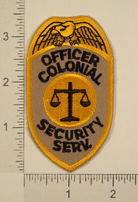 OFFICER COLONIAL SECURITY Iron On Embroidered PATCH