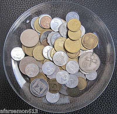 Lot Of 65 Mixse Old Israel Coins Free International Shipping