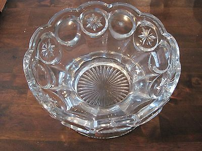 EARLY AMERICAN PATTERN GLASS SNOWFLAKE STAR COMPOTE