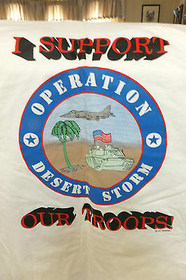 I Support Our Troops, Operation Desert Storm T-Shirt, Size L, 1991