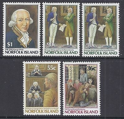 1986 Norfolk Island Bicentenary Part I Complete Set Of 5 Fine Mint Muh/mnh