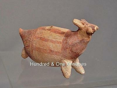 Antique Pre-Columbian, Chancay Terracotta effigy Llama Figure