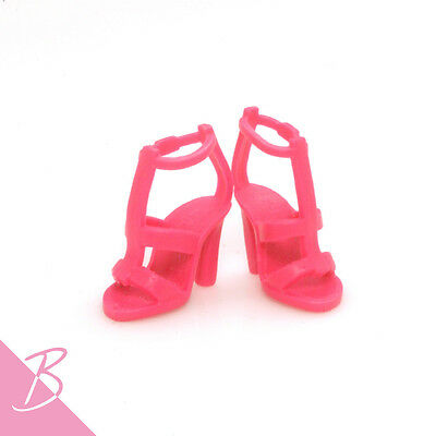 Shoes/Boots Deeppink Strappy High Heels sandals for Mattel Barbie NEW #1363