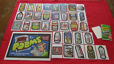WACKY PACKAGES OLD SCHOOL 4 (WHITE) BACK SET & FULL PUZZLE 42/42