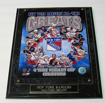 New York Rangers Messier Graves Leetch All-Time Greats Plaque Shipped 2 Day Mail