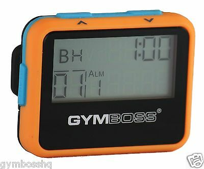 Gymboss Interval Timer And Stopwatch Orange / Blue Softcoat From Gymboss Hq