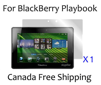 Clear Glossy front Cover Screen Protector Skin for Blackberry Playbook