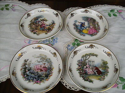 Lord Nelson Pottery Romantic Scenes Set Of4 Pin Dishes