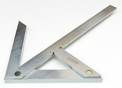 "Centering Square 8"" Center Gauge Round Bar Center Finder Precision Hardened S.S."
