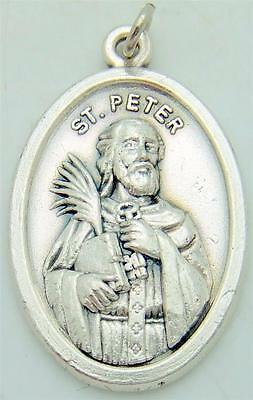 Mrt silver plate st peter pendant holy medal catholic patron saint mrt silver plate st peter pendant holy medal catholic patron saint gift 34 aloadofball Images