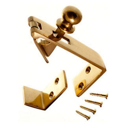 Counter Flap Catch Solid Polished Brass Bar Shop Pub Counterflap + Stay & Screws