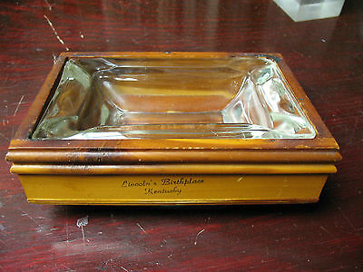 Kentucky  Souvenir  Ashtray  Cedar  Birthplace Of Lincoln