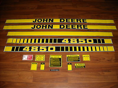 john deere tractor decal set for powershift models • 39 99 picclick john deere 4850 tractor decal set caution decals