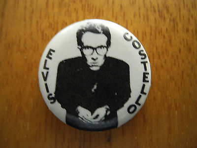 ELVIS COSTELLO - Late 1970's - ORIG PROMO ONLY PIN BACK BUTTON - RARE!!