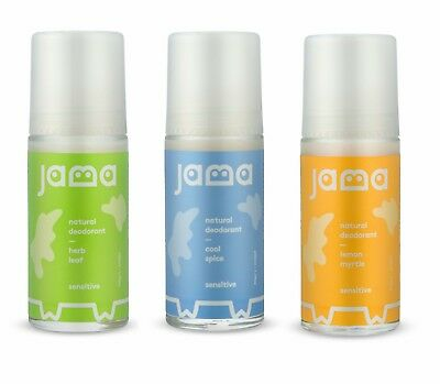 JAMA DEODORANT Roll On Scented Fragrance Aluminium & Alcohol free 50ml