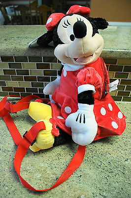 NWT Walt Disney World Parks MINNIE MOUSE Plush Backpack Tote