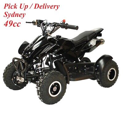 2018 49cc Mini ATV Quad Bike Kids 4 Wheeler Dirt Buggy Mud Pocket BLACK