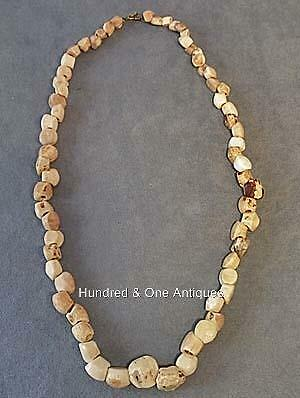 Antique Pre-Columbian Tairona shell beads necklace 500-1500 AD