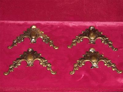 Original ornate brass cornices for picture frames set of four  Antique