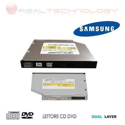 Masterizzatore Interno Slim Samsung Sata Dual Layer Lettore Cd Dvd Per Notebook