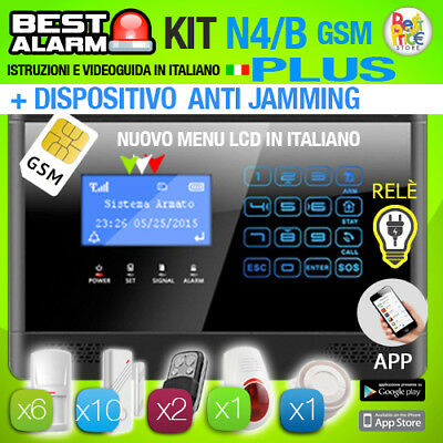 Antifurto Kit N4B Plus Allarme Casa Combinator Gsm Wireless - Antijamming