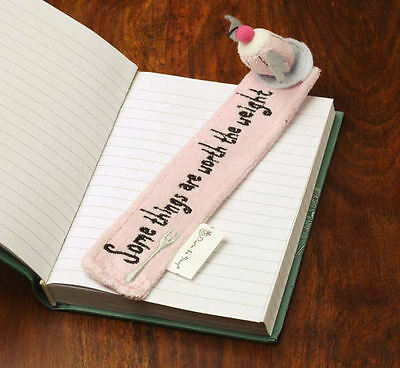 Born to Shop Bookmark . Cake Design - Rose Scented . Great Book Lover Gift