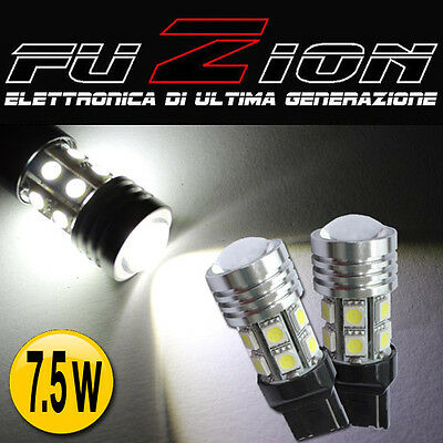 1 COPPIA LAMPADINE 7440 T20 7,5W LED SMD CANBUS BIANCO