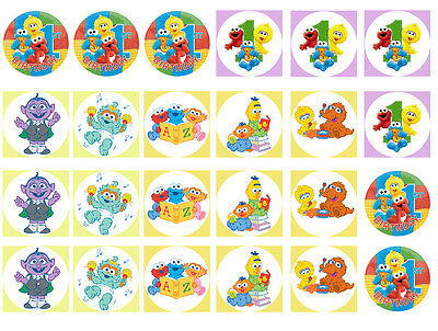 Baby Sesame  Street Cupcake Edible Icing Party Cake Topper Decoration Image