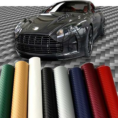 3D 4D 5D Carbon Fiber Fibre Vinyl Film Sticker Car Wrap Adhesive Sticker Decals