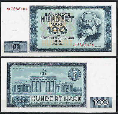 ALEMANIA GERMANY DDR 100 MARK 1964 Pick 358a   SC  UNC