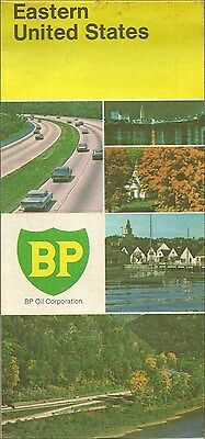 1970 BP OIL Road Map EASTERN UNITED STATES Florida Maine Virginia New York Ohio