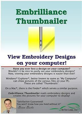 embrillance thumbnailer embroidery software