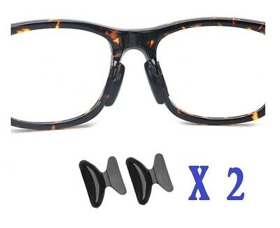 2.5mm Non-slip Silicone Nose Pad for Eyeglasses 2 Pairs 2.5mm (Black)US Seller