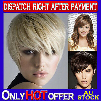 100% Human Hair Top Clip In Fringe Bangs Extension Hair Piece Great Color Range