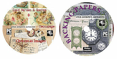 Card Verses & Quotes + Decoupage + Everything For Cardmaking + Backing Paper DVD