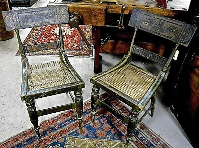 Antique Fancy Painted Federal/Baltimore Side Chairs (pair) c. 1820s