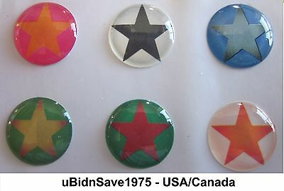 Green Red Yellow Star Home Button Stickers for Apple iPhone iPod iPad Air Mini