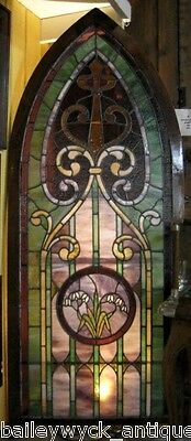 Architectural Antique: Stained Glass Window