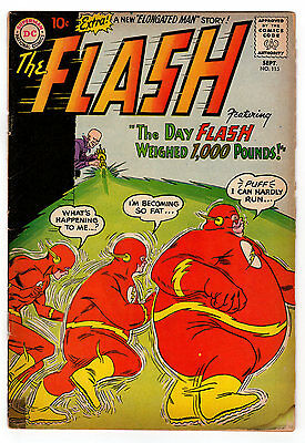 Flash #115 3.0 Off-White Pages Silver Age