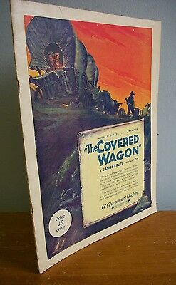1923 Paramount Movie Program THE COVERED WAGON Illustrated