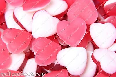 Haribo Love Heart Throbs, Retro Pick 'n' Mix Jelly Sweets - 500g, 1kg or 3kg