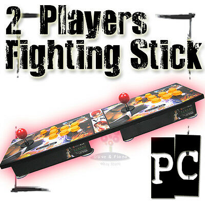 Thinkbay 2 Players Fighting Stick Arcade Game Joystick PC 6 Buttons Pro Fighter