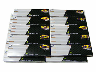 1000 Pack Box of Thin King Size Pre Rolled Ready Made Smoking Cones King Size