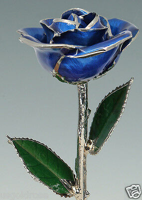 Dark Blue Rose by Living Gold - Real Rose Dipped in Platinum - VALENTINE'S DAY!