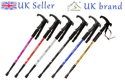 Antishock Trekking Walking Hiking Stick Pole